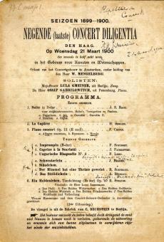 Programma van de Eerste Uitvoering van 'Ein Heldenleben' te Den Haag. Nederlands Muziek Instituut