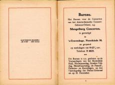 Haagse Mengelberg-concerten, brochure. Bron: Nederlands Muziek Instituut