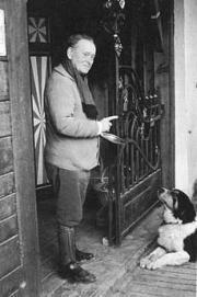 Willem Mengelberg, Chasa Mengelberg met zijn hond Rin, 1947