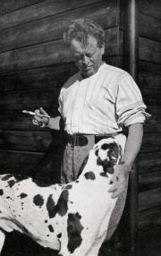 Mengelberg, Chasa Mengelberg, Zuort met zijn hond Tiger