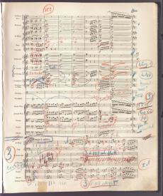 Willem Mengelberg: directiepartituur/conducting score Vijfde Symfonie van Gustav Mahler, met wijzigingen van de componist. Nederlands Muziek Instituut