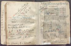 Willem Mengelberg directiepartituur/conducting score Richard Strauss 'Ein Heldenleben'. Nederlands Muziek Instituut