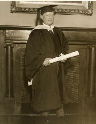 Willem Mengelberg Dr. h.c., Columbia University 1928