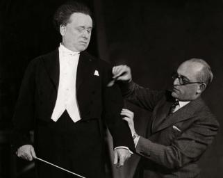 Epinay (Fr.), filmopnamen 1931, Willem Mengelberg en Max Tak