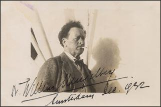 Gesigneerde foto van Willem Mengelberg, 1932