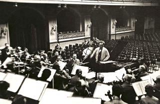 Repetitie met de Wiener Philharmoniker in de Goldener Saal