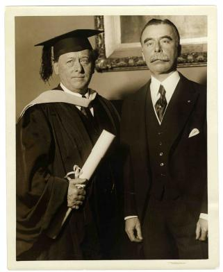 Willem Mengelberg Dr. h.c., Columbia University 1928, with Charles Mackay