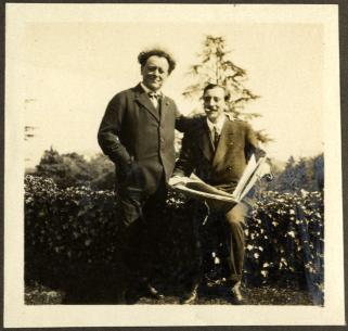 Willem Mengelberg en Ernest Schelling te Céligny, coll. Nederlands Muziek Instituut