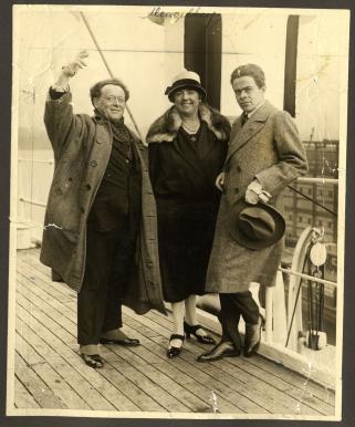 Willem Mengelberg,Tilly Mengelberg, Louis Arntzenius, on board 1926