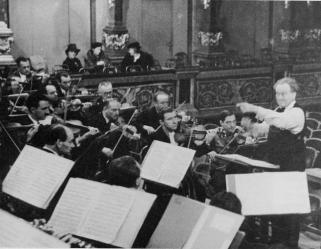 Repetitie met de Wiener Philharmoniker in de Goldener Saal, maart 1940
