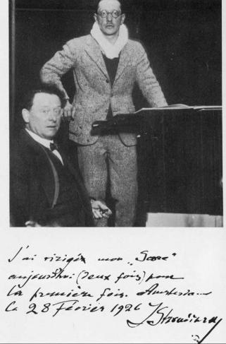 Igor Strawinsky en Willem Mengelberg, Concertgebouw, 1926