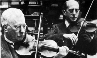 Louis Zimmermann en Ferdinand Helmann, concertmeesters van het Concertgebouworkest