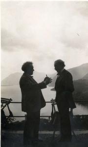 Willem Mengelberg en Arturo Toscanini, Bellagio 1925. Nederlands Muziek Instituut