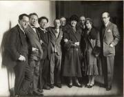 Rudolf Mengelberg, Ottorino Resphghi, Willem Mengelberg, Igor Strawinsky, Cornelis Dopper, mw. Mengelberg, Sam Bottenheim, mw. Lourié, Arthur Lourié, 1926