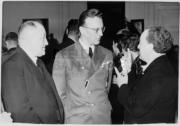 V.l.n.r. H.J. Woudenberg, Rijkscommissaris Dr. Arthur Seyss-Inquart, Willem Mengelberg, 1940, Concertgebouw Amsterdam