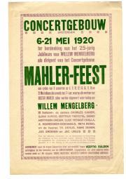 Strooibiljet voor het Mahlerfeest 1920. Nederlands Muziek Instituut